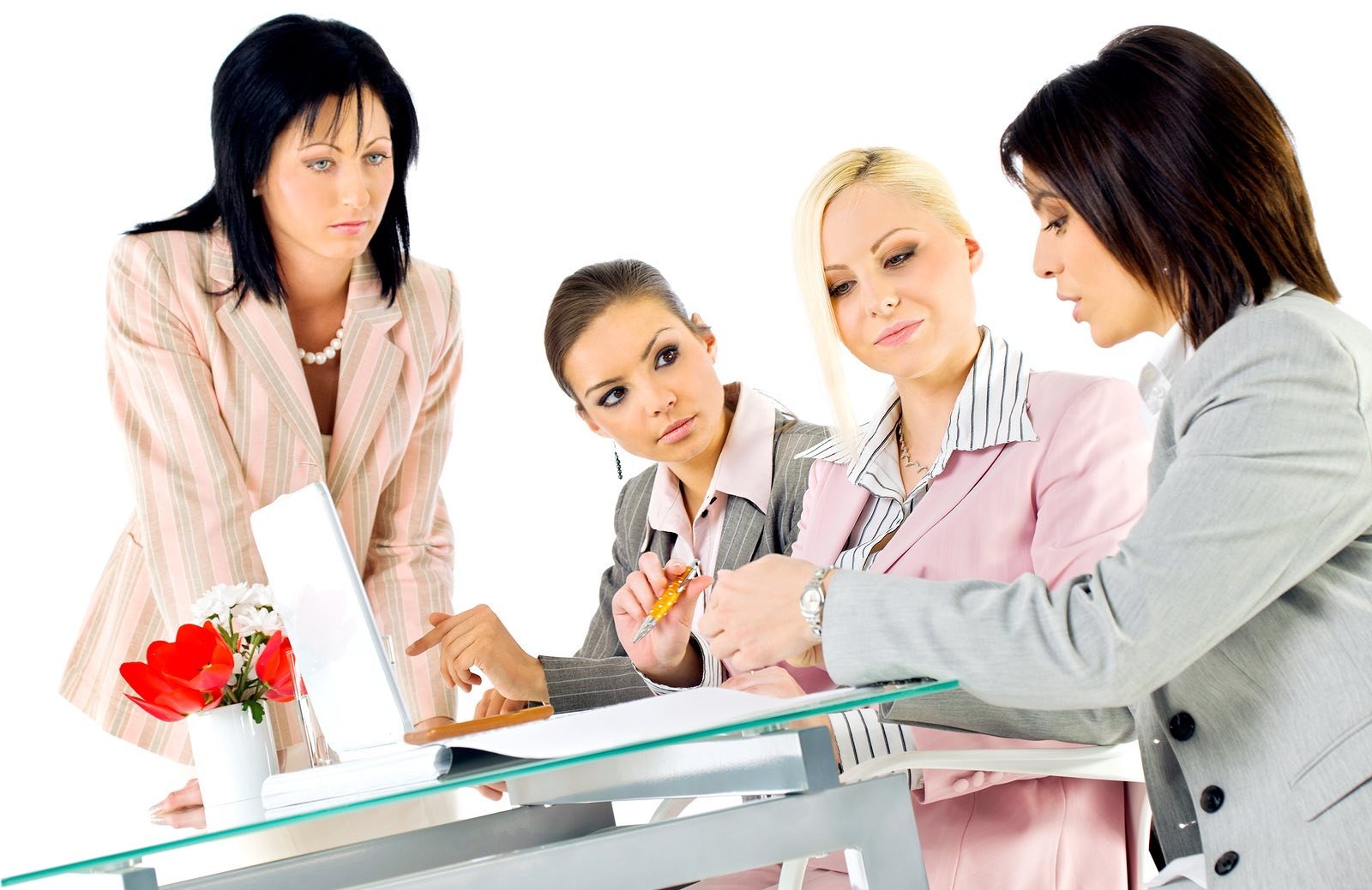 Business women discussing