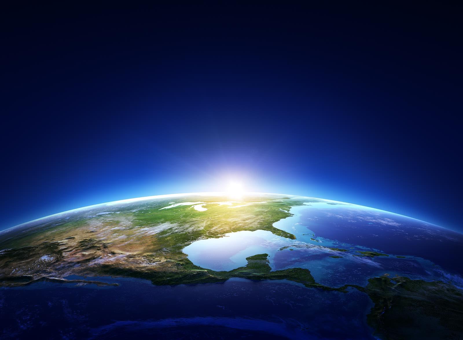 Earth Sunrise North America (by NASA)