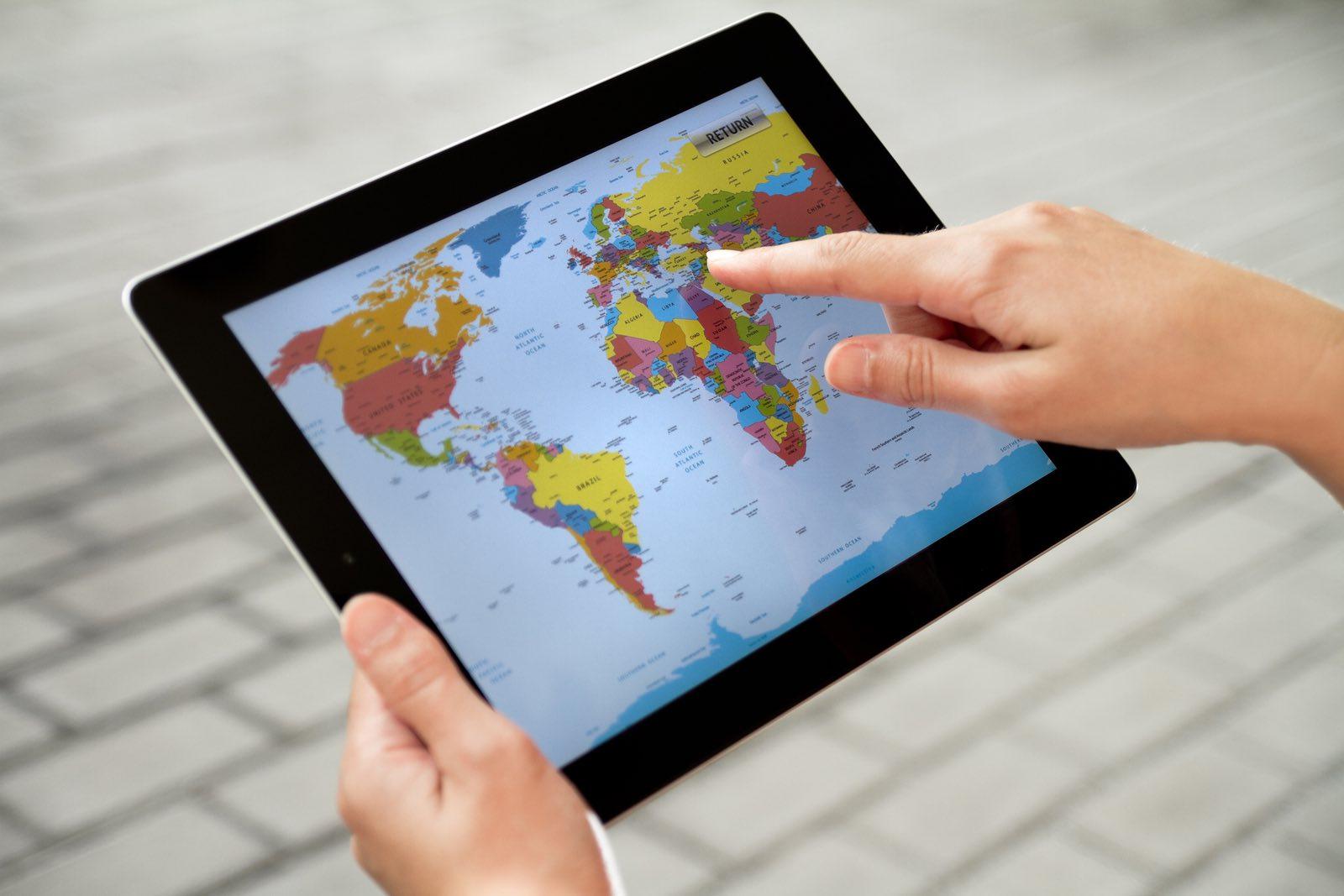 World Map On Apple Ipad