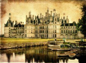 Chambord castle - artistic retro styled picture