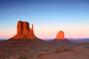 Sunset Buttes in Monument Valley Arizona