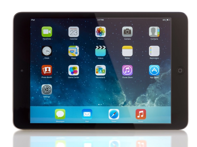 GALATI, ROMANIA, JANUARY 31, 2014: - iPad mini is powered by the new A7 chip with 64-bit architecture. Galati, Romania, January 31, 2014