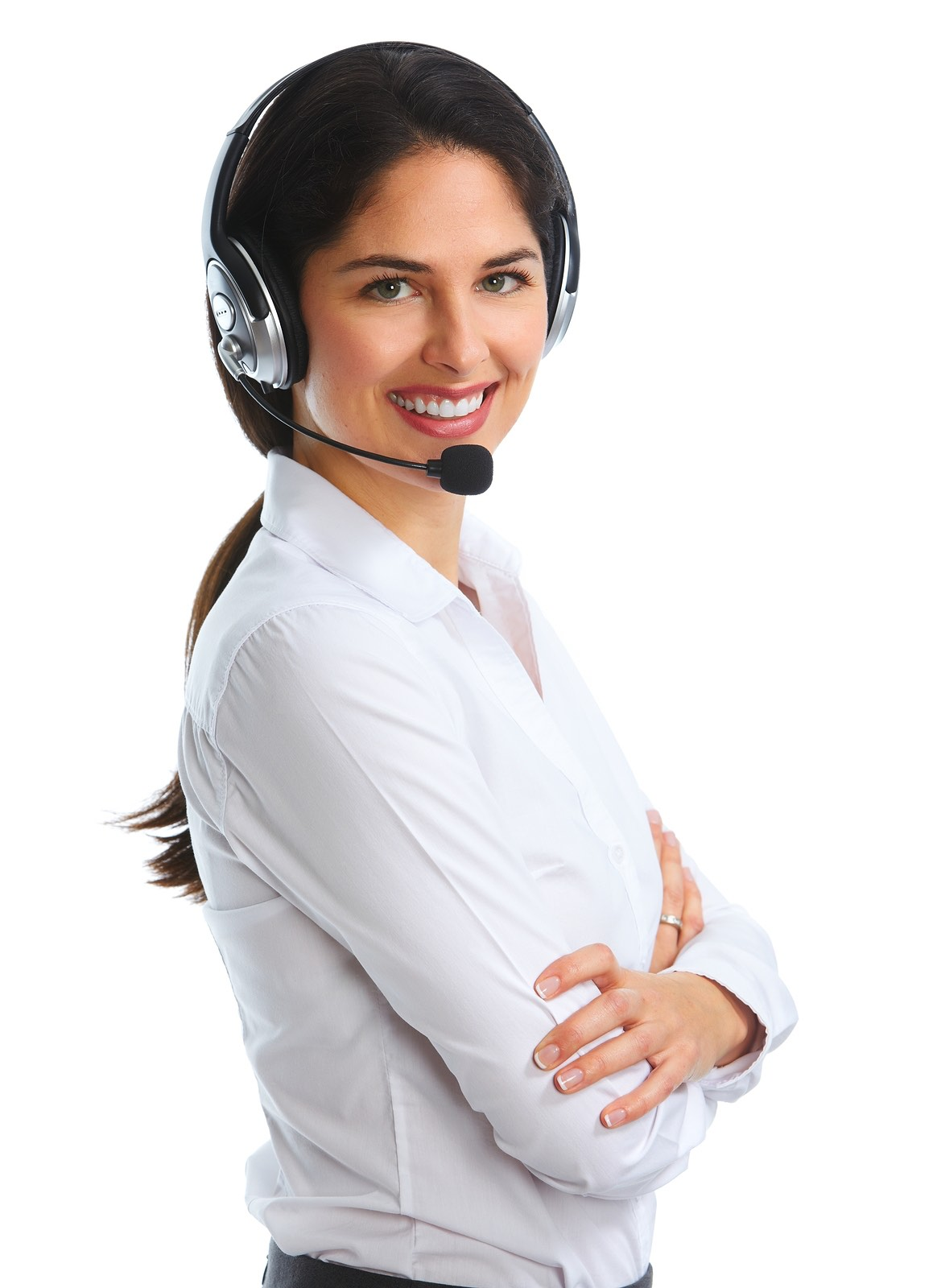 Call Center Operator With Client - Video And Website Design